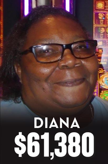 $61,380 Winner Diana